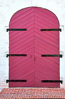 Colorful door in Charlotte Amalle. St. Thomas. US Virgin Islands.