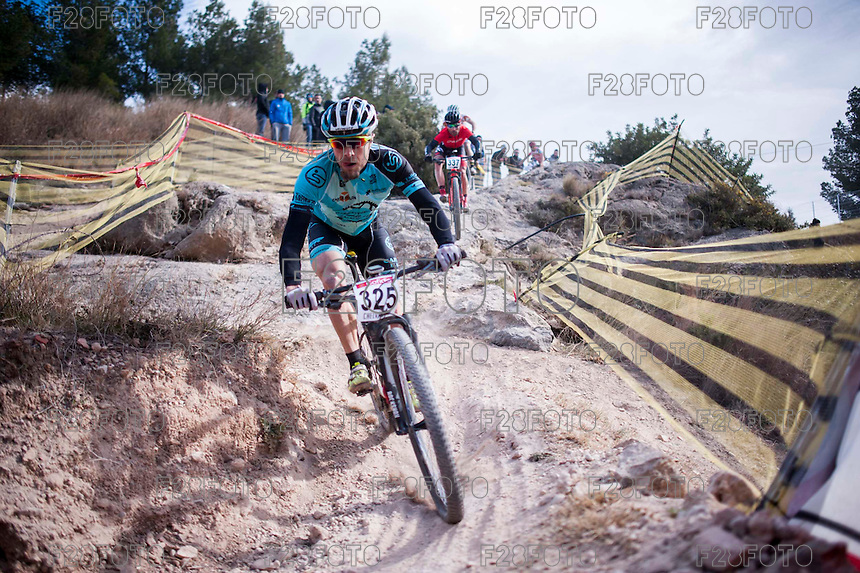 Chelva, SPAIN - MARCH 6: Daniel Becerril during Spanish Open BTT XCO on March 6, 2016 in Chelva, Spain