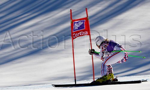13.01.2012 Cortina D Ampezzo, Italy. The Ski Alpine FIS World Cup Downhill Training for women Picture shows Regina Mader AUT