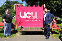"""during """"The Bevan Festival""""  celebrating the NHS, held in Tredegar, Gwent, South Wales.  <br /> <br /> Tredegar, South Wales, Sunday 7th July 2019<br /> <br /> <br /> Jeff Thomas Photography -  www.jaypics.photoshelter.com - <br /> e-mail swansea1001@hotmail.co.uk -<br /> Mob: 07837 386244 -"""