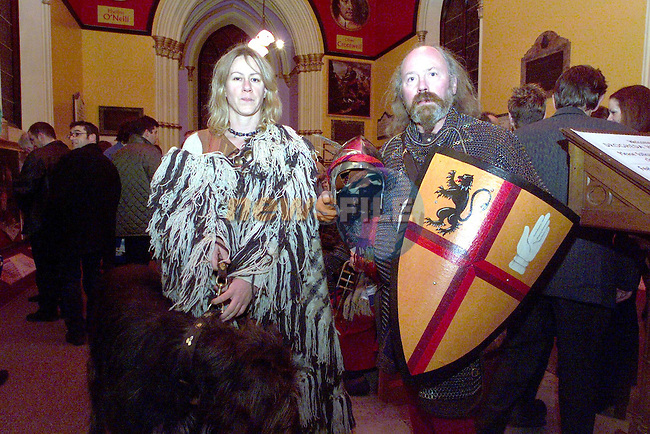 Lynn Williams and Boyd Rankin of Irish Arms at the opening of The Heritage Centre..Picture Paul Mohan Newsfile..Camera:   DCS620C.Serial #: K620C-01943.Width:    1728.Height:   1152.Date:  1/12/99.Time:   20:29:06.DCS6XX Image.FW Ver:   1.9.6.TIFF Image.Look:   Product.Tagged.Counter:    [1101].Shutter:  1/50.Aperture:  f8.0.ISO Speed:  200.Max Aperture:  f2.8.Min Aperture:  f22.Focal Length:  14.Exposure Mode:  Manual (M).Meter Mode:  Color Matrix.Drive Mode:  Continuous High (CH).Focus Mode:  Continuous (AF-C).Focus Point:  Center.Flash Mode:  Normal Sync.Compensation:  +0.0.Flash Compensation:  +1.0.Self Timer Time:  10s.White balance: Auto (Flash).Time: 20:29:06.277.