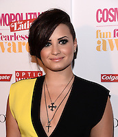 NEW YORK, NY - JUNE 4: Singer Demi Lovato Attends The Fun, Fearless Latina Awards at The Hearst tower ,New York City ,June 4, 2014 ©HP/Starlitepics.com