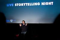 Amsterdam, 23 november 2011 International Documentary Filmfestival Amsterdam. Doclab Live Story Telling with Paulien Cornelisse, Micha Wertheim. Photo by Corinne de Korver