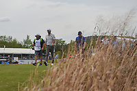 Dustin Johnson (USA) and Brandon Grace (RSA) head down 16 during day 2 of the WGC Dell Match Play, at the Austin Country Club, Austin, Texas, USA. 3/28/2019.<br /> Picture: Golffile | Ken Murray<br /> <br /> <br /> All photo usage must carry mandatory copyright credit (© Golffile | Ken Murray)