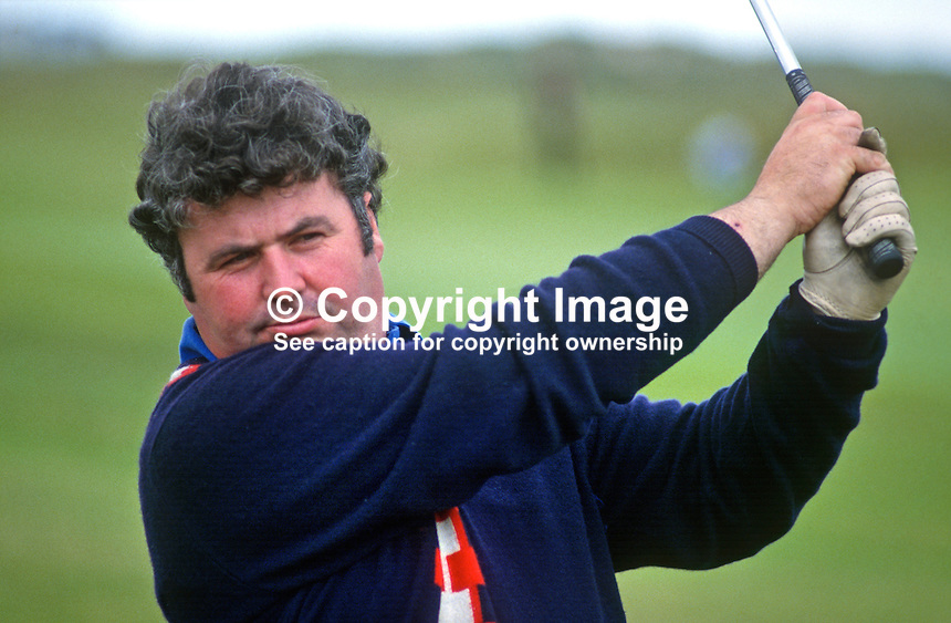 John McAleese, Cushendall, N Ireland, golfer, competitor, North of Ireland Amateur Championships, 1985. 19850710JMA2..Copyright Image from Victor Patterson, 54 Dorchester Park, Belfast, UK, BT9 6RJ..Tel: +44 28 9066 1296.Mob: +44 7802 353836.Voicemail +44 20 8816 7153.Skype: victorpattersonbelfast.Email: victorpatterson@me.com.Email: victorpatterson@ireland.com (back-up)..IMPORTANT: If you wish to use this image or any other of my images please go to www.victorpatterson.com and click on the Terms & Conditions. Then contact me by email or phone with the reference number(s) of the image(s) concerned.