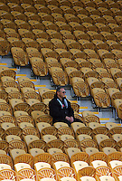 A spectator watches in solitude during the International rugby match between New Zealand Secondary Schools and Suncorp Australia Secondary Schools at Yarrows Stadium, New Plymouth, New Zealand on Friday, 10 October 2008. Photo: Dave Lintott / lintottphoto.co.nz