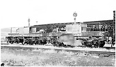 3/4 view of D&amp;RGW flangers #OJ &amp; #OT in Gunnsion yards.<br /> D&amp;RGW  Gunnison, CO  Taken by Richardson, Robert W. - 1954