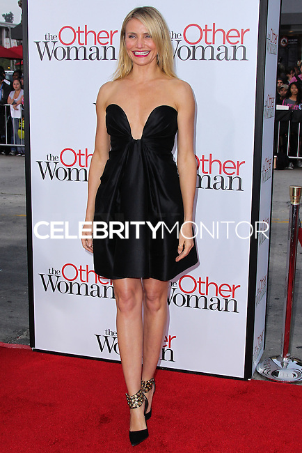 "WESTWOOD, LOS ANGELES, CA, USA - APRIL 21: Actress Cameron Diaz arrives at the Los Angeles Premiere Of Twentieth Century Fox's ""The Other Woman"" held at the Regency Village Theatre on April 21, 2014 in Westwood, Los Angeles, California, United States. (Photo by Xavier Collin/Celebrity Monitor)"