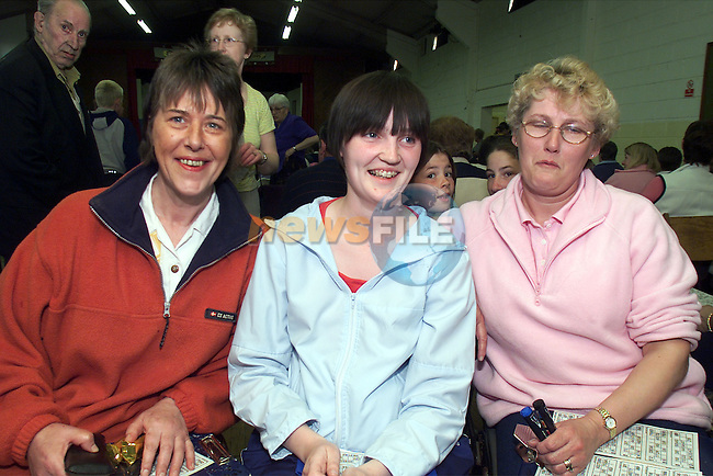 Jacinta Byrne, Julie O'Connor and Margret Mccabe, Dunleer pictured at the bingo in Tullyallen parish hall..Picture: Arthur Carron/Newsfile
