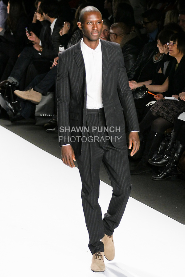 Model walks the runway during Naomi Campbell's Fashion Relief for Haiti runway show, during Mercedes-Benz Fashion Week, February 12, 2010.