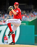 10 July 2011: Washington Nationals pitcher Jordan Zimmermann on the mound against the Colorado Rockies at Nationals Park in Washington, District of Columbia. The Nationals shut out the visiting Rockies 2-0 salvaging the last game their 3-game series at home prior to the All-Star break. Mandatory Credit: Ed Wolfstein Photo