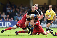 Jack Walker of Bath Rugby takes on the Toulouse defence. Heineken Champions Cup match, between Bath Rugby and Stade Toulousain on October 13, 2018 at the Recreation Ground in Bath, England. Photo by: Patrick Khachfe / Onside Images