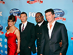 Paula Abdul, Ryan Seacrest, Randy Jackson and Simon Cowell at the American Idol - Idol Gives Back show at the Kodak Theatre, April 6th 2008...Photo by Chris Walter/Photofeatures