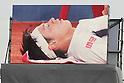 Kei Nishikori (JPN),.APRIL 27, 2012 - Tennis :.Display shows Kei Nishikiori of Japan receiving medical treatment during the men's singles quarter final match of the Barcelona Open Banco Sabadell tennis tournament at the Real Club de Tenis in Barcelona, Spain, April 27, 2012. (Photo by AFLO) [3604]