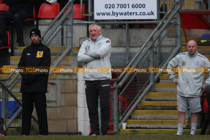 Ronnie Moore manager of Tranmere Rovers- Leyton Orient vs Tranmere Rovers - NPower League One Football at the Matchroom Stadium, Brisbane Road - 09/02/13 - MANDATORY CREDIT: George Phillipou/TGSPHOTO - Self billing applies where appropriate - 0845 094 6026 - contact@tgsphoto.co.uk - NO UNPAID USE.