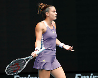 26th January 2020; Melbourne Park, Melbourne, Victoria, Australia; Australian Open Tennis, Day 7; Maria Sakkari of Greece questions a call during her match against Petra Kvitova of Czech