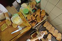 Making the popular breakfast set at the popular breakfast cafe chain Yakun Kaya Toast in Singapore.