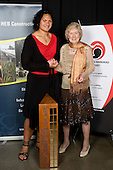 Olympic Track & Field gold medalists Valerie Vili (2008 Beijing, shot put) & Yvette Williams (1952 Helsinki, long jump). Counties Manukau Sport 17th annual Sporting Excellence Awards held at the Telstra Clear Pacific Events Centre, Manukau City, on November 27th 2008.