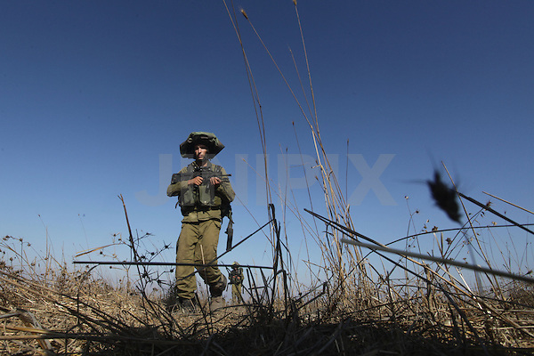 Israeli Army combat forces during drill in the Golan Heights 13 September 2012 Photo By: Ancho Gosh - JINIPIX -ISRAEL OUT -