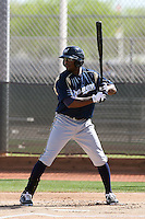 Brandon Boggs of the Milwaukee Brewers plays in a spring training game against the Los Angeles Dodgers at the Brewers complex on April 2, 2011 in Phoenix, Arizona. .Photo by:  Bill Mitchell/Four Seam Images.