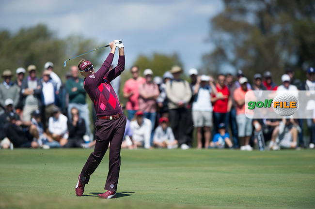 Ian Poulter in action during the final round of the Australian Masters (Photo: Anthony Powter) www.golffile.ie