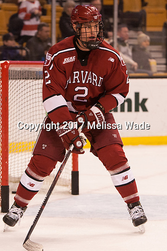 Tyler Moy (Harvard - 2) - The Harvard University Crimson defeated the Boston University Terriers 6-3 (EN) to win the 2017 Beanpot on Monday, February 13, 2017, at TD Garden in Boston, Massachusetts.
