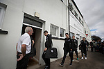 Visiting players and officials arriving at Borough Briggs, home to Elgin City, on the day they played SPFL2 newcomers Edinburgh City. Elgin City were a former Highland League club who were elected to the Scottish League in 2000, whereas Edinburgh City became the first club to gain promotion to the League by winning the Lowland League title and subsequent play-off matches in 2015-16. This match, Edinburgh City's first away Scottish League match since 1949, ended in a 3-0 defeat, watched by a crowd of 610.