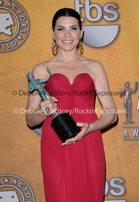 Julianna Margulies attends the 17th Annual Screen Actors Guild Awards held at The Shrine Auditorium in Los Angeles, California on January 30,2011                                                                               © 2010 DVS / Hollywood Press Agency