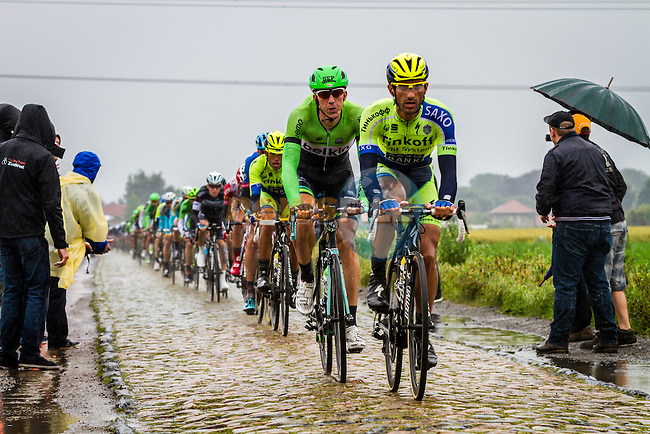 Sep Vanmarcke, Belkin, Tour de France, Stage 5: Ypres > Arenberg Porte du Hainaut, UCI WorldTour, 2.UWT, Wallers, France, 9th July 2014, Photo by Thomas van Bracht / Peloton Photos