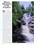 1995 Article for Smoky Mountain Memories Magazine, Water, Abundant in the Smokies