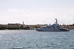 15.08.2014., Pula, Croatia - Luxury yacht Golden Odyssey, ownership of prince Khaled bin Sultan who is currently visiting Croatia. <br /> <br /> Foto &copy;  nph / PIXSELL / Dusko Marusic