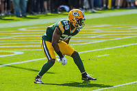 Green Bay Packers safety Kentrell Brice (29) during a National Football League game against the Seattle Seahawks on September 10, 2017 at Lambeau Field in Green Bay, Wisconsin. Green Bay defeated Seattle 17-9. (Brad Krause/Krause Sports Photography)