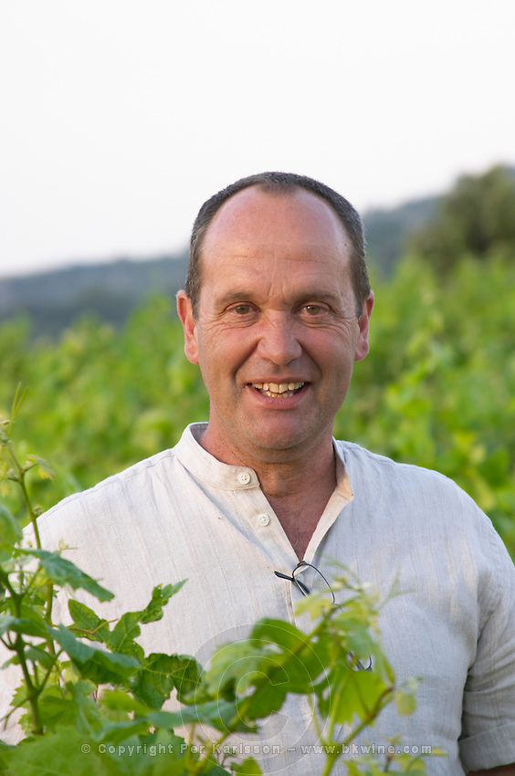 Jean-marie merou of the cooperative wine producer Cave Caramany, Ariege, Roussillon, France