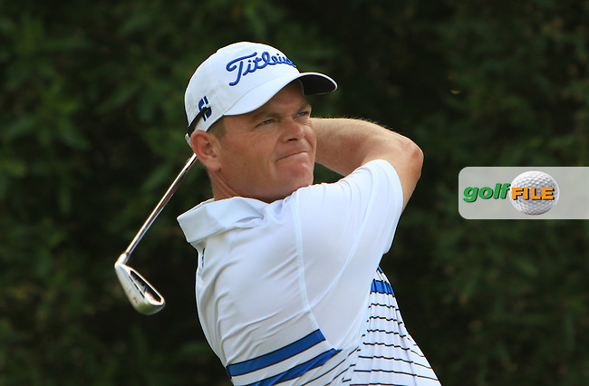 David Drysdale (SCO) on the 4th tee during Round 4 of the Abu Dhabi HSBC Championship on Sunday 22nd January 2017.<br /> Picture:  Thos Caffrey / Golffile<br /> <br /> All photo usage must carry mandatory copyright credit     (&copy; Golffile   Thos Caffrey)