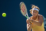 August 4, 2019: Aryna Sabalenka (BLR) in action where she was defeated by Saisai Zheng (CHN) 6-3, 7-6 in the finals of the Mubadala Silicon Valley Classic at San Jose State in San Jose, California. ©Mal Taam/TennisClix/CSM
