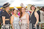 Naomi Tarrant, Killarney, Valerie Coleman, Killarney, Tina Coleman, Killarney, Deirdre Mahony, Kilgarvan at Killarney races ladies day on Thursday.
