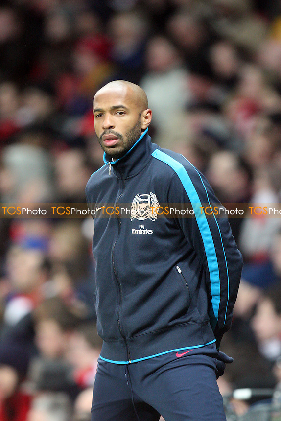 Thierry Henry of Arsenal -  Arsenal vs Aston Villa - at the Emirates Stadium - 29/01/12 - MANDATORY CREDIT: Dave Simpson/TGSPHOTO - Self billing applies where appropriate - 0845 094 6026 - contact@tgsphoto.co.uk - NO UNPAID USE.