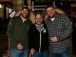 Oxford CT-011919MK20 (co-owners) from left Jason Sobocinski, Jim Basonowski nad Tom Sobocinski gathered at Black Hog Brewing Co. in Oxford. for a fund raising event that featured 26 breweries from all over New England along with artisan snack vendors and food trucks.  Organizers hoped to raise over $3000 to benefit The Connecticut Children's Medical Center. Michael Kabelka / Republican American