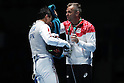 (L-R) <br /> Yuki Ota,<br />   Oleg Matseichuk (JPN), <br /> AUGUST 7, 2016 - Fencing : <br /> Men's Foil Individual second round<br /> at Carioca Arena 3 <br /> during the Rio 2016 Olympic Games in Rio de Janeiro, Brazil. <br /> (Photo by Koji Aoki/AFLO SPORT)