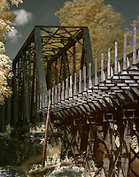 Abandoned railroad trestle, repurposed