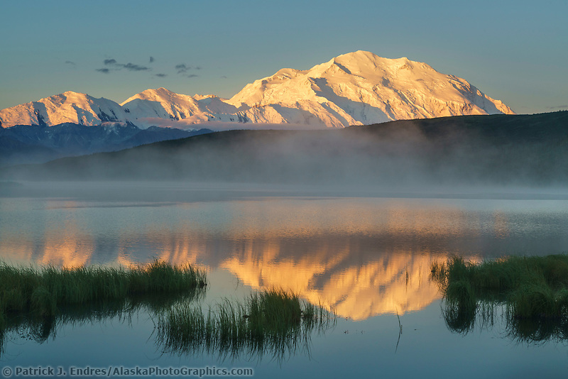 Reflection in Wonder Lake, Denali National Park, Interior, Alaska