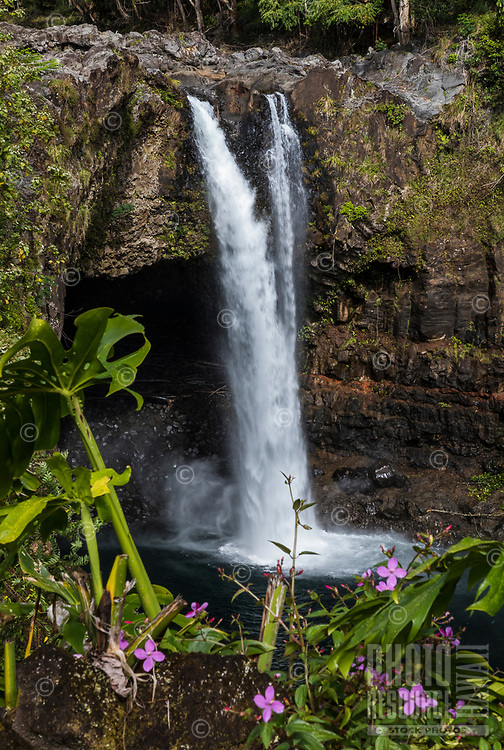 Rainbow Falls, Wailuku River, Hilo, Big Island of Hawai'i.
