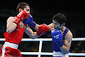 Javid Chalabiyev (AZE), Arashi Morisaka (JPN), <br /> AUGUST 10, 2016 - Boxing : <br /> Men's Bantam (56kg) <br /> at Riocentro - Pavilion 6 <br /> during the Rio 2016 Olympic Games in Rio de Janeiro, Brazil. <br /> (Photo by Koji Aoki/AFLO SPORT)