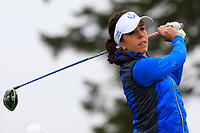 Georgia Hall (EUR) on the 2nd tee during Day 3 Singles at the Solheim Cup 2019, Gleneagles Golf CLub, Auchterarder, Perthshire, Scotland. 15/09/2019.<br /> Picture Thos Caffrey / Golffile.ie<br /> <br /> All photo usage must carry mandatory copyright credit (© Golffile | Thos Caffrey)