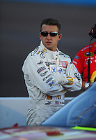 Nov. 7, 2008; Avondale, AZ, USA; NASCAR Sprint Cup Series driver A.J. Allmendinger during qualifying for the Checker Auto Parts 500 at Phoenix International Raceway. Mandatory Credit: Mark J. Rebilas-