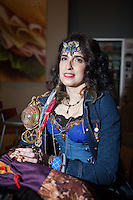 This woman plans on getting her PhD in anthropology focusing on Magic The Gathering. <br /> <br /> <br /> Magic The Gathering Grand Prix, Washington DC. <br /> <br /> Danny Ghitis for Bloomberg Businessweek