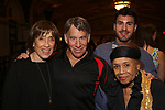 """Susan Birkenhead, Stephen Schwartz, guest and Micki Grant attends the Opening Night performance afterparty for ENCORES! Off-Center production of """"Working - A Musical""""  at New York City Center on June 26, 2019 in New York City."""