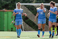 Seattle, WA - Sunday, May 22, 2016: Chicago Red Stars forward Jennifer Hoy (2) during a regular season National Women's Soccer League (NWSL) match at Memorial Stadium. Chicago Red Stars won 2-1.