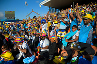 Fans perform a Mexican Wave on day two of the 2019 HSBC World Sevens Series Hamilton at FMG Stadium in Hamilton, New Zealand on Sunday, 27 January 2019. Photo: Dave Lintott / lintottphoto.co.nz