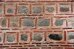 Detail of brick work on wall of the Dzhumaya mosque in central Plovdiv, Bulgaria eastern Europe
